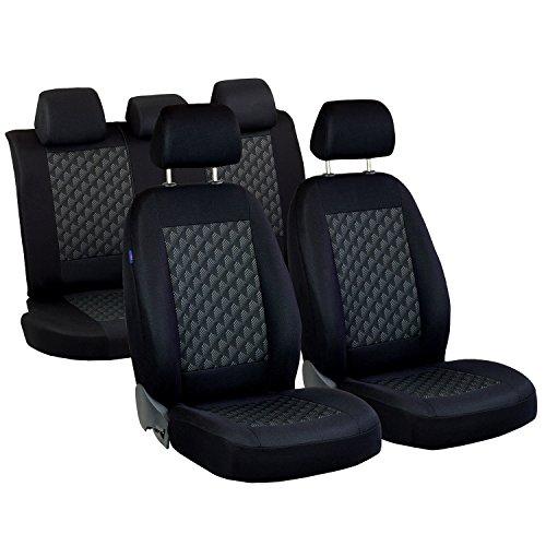 Mokka Sitzbezüge - 1 Set - Farbe Premium Schwarz Effekt 3D