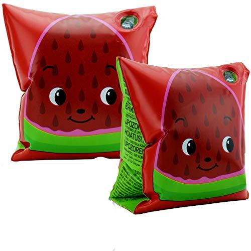 Bestway! Schwimmflügel für Kinder, aufblasbar, 2 Kammern, 2 Sicherheitsventile, 2 Versionen, für Jungen und Mädchen (Rot)