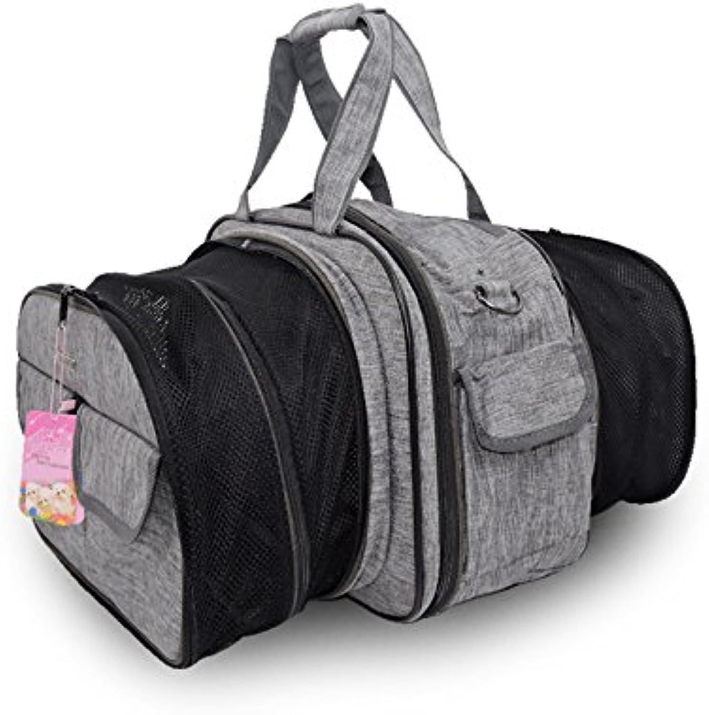 Pet Bag Dog Backpack MultiFunction Folding Cat Bag Breathable Portable Travel Shoulder Bag Handbag Polyester