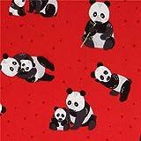 Roter Flanell mit Pandas von Robert Kaufman
