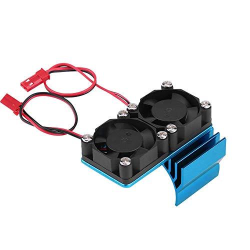 Nuobi 540/550 Ventilador de refrigeración Ligero y Duradero de 5 V a 6 V, radiador de Ventilador de Motor RC, para camión eléctrico de Coche RC a Escala 1/10(Blue)