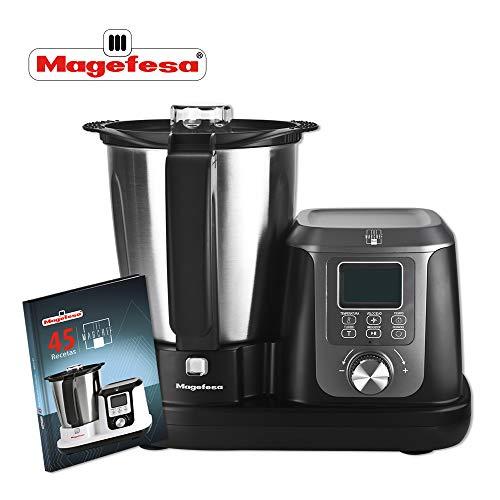 Magefesa multifunctionele keukenmachine Magchef 3,3 l 1200 W, incl. receptenboek, roestvrijstalen kan, systeem voor maximale veiligheid, temperatuur instelbaar van 30 \xba tot 120 \xba
