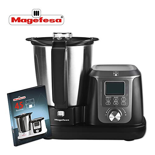 M MAGEFESA 02RO4550000 MAGEFESA 02RO4550000-Robot de Cocina Modelo MAGCHEF Black MGF4550, 1200 W, Negro