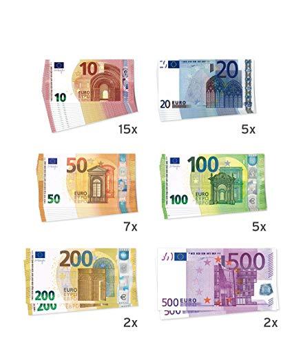 Litfax GmbH Euroscheine, Theatergeld, Spielgeld, Scheine (Mischpackung) - 500 Euro, 200 Euro, 100 Euro, 50 Euro, 20 Euro und 10 Euro