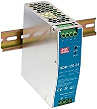 MEAN WELL NDR-120-24 Single Output Industrial DIN Rail Power Supply, 24 Volts 5 Amps 120 Watts