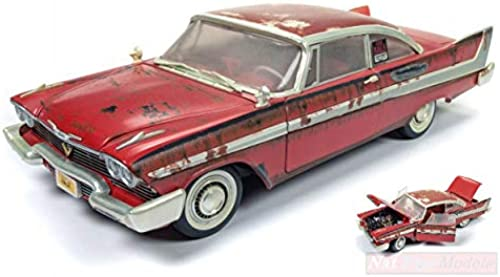 AUTO WORLD AWSS119 PLYMOUTH FURY  CHRISTINE  DIRTY VERSION 1 18 DIE CAST MODEL