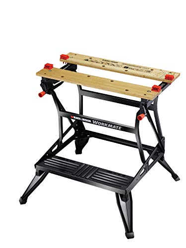 BLACK+DECKER Tough Work Bench Saw Horse, Dual Height Heavy...