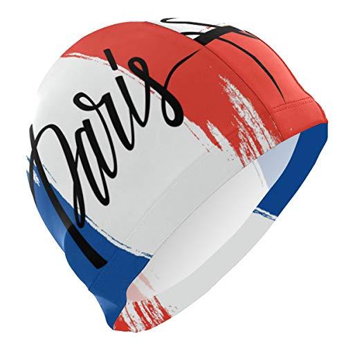 ALINLO - Cuffia da Nuoto con Bandiera della Franch Paris, Impermeabile, per Adulti e Ragazzi
