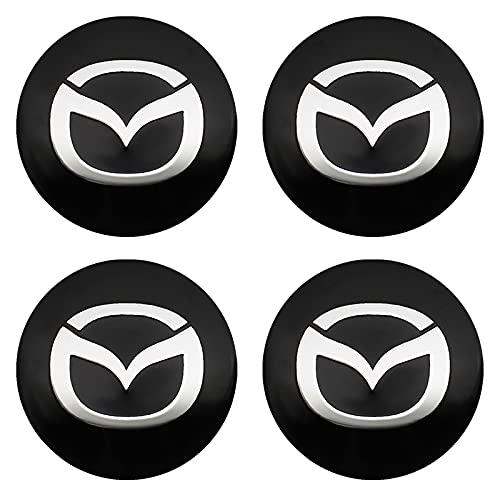 4 tapas de tapacubos para coche, a prueba de polvo, para Mazda 2, Mazda 3, Mazda 6, M5, Cx, 5, Ms, Auto Styling Accesorios Centro