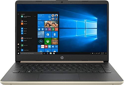 2019 HP 14 Inch HD Touchscreen Premium Laptop PC, Intel Core i3-8145U (Beat i5-7200U), 8GB RAM, 128GB SSD, USB 3.1 Type C, Fingerprint Reader, Gold, W/ Legendary Computer Backpack & Mouse Pad Bundle