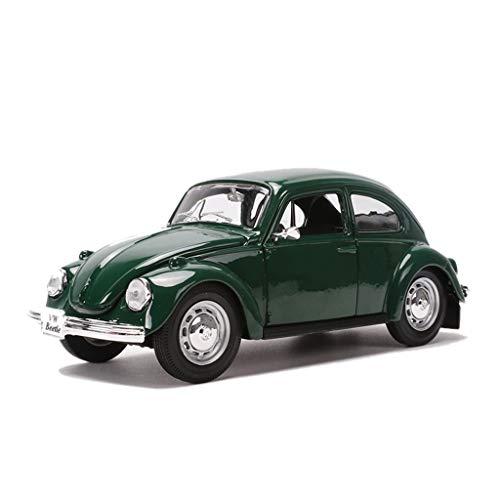 Modelo De Coche 1:24 Escala Escarabajo Retro Modelo De Coche, Simulación Estática De Aleación Modelo De Juguete De Regalo, Verde