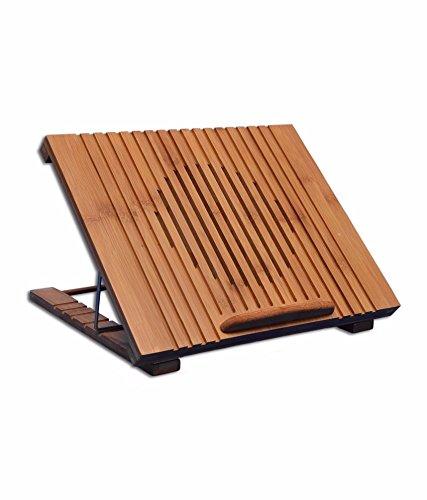 MODAVELA Mesa De Bambu Portátil Laptop Ventilador Base Enfriadora