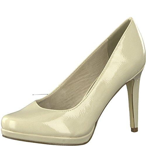 Tamaris 1-1-22446-20 Damen Pumps, Sommerschuhe für die modebewusste Frau beige (Cream), EU 40