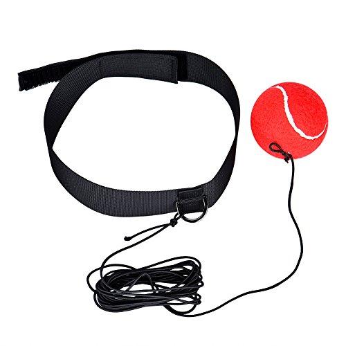 Cozywind Palla da allenamento boxe con Velcro Fascia Riflesso Velocità Formazione per Boxer Punch Esercizio Pallina(rosso)
