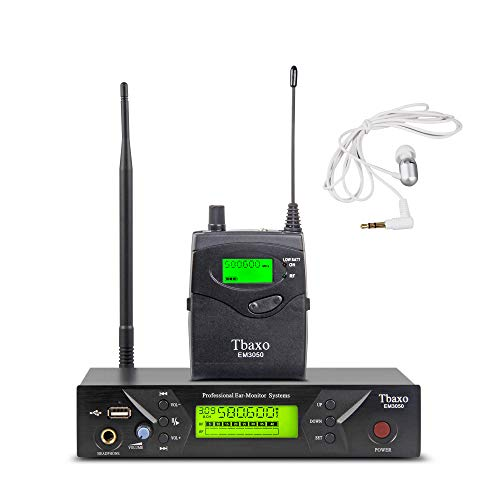 UHF Wireless in Ear Monitor System Pro Audio Professional Monitoring SR2050 Type 1 Channel 40 Frequency with 1 Receiver 1 Headphone for Singing Stage & Studio Recording 3 Years Free Warranty Service