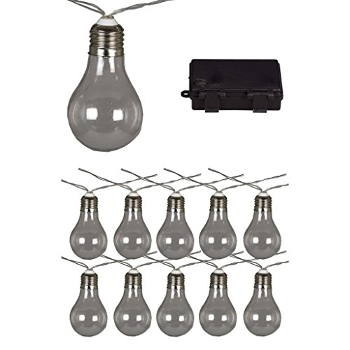 Luxform Guirlande Lumineuse 10 Ampoules Transparent