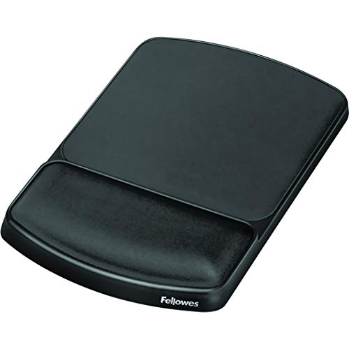Fellowes Gel Wrist Rest and Mouse Pad, Graphite/Platinum (91741)