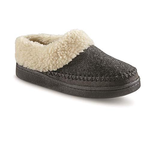 Guide Gear Women's Wool Clog Slippers, Charcoal, 8B (Medium)