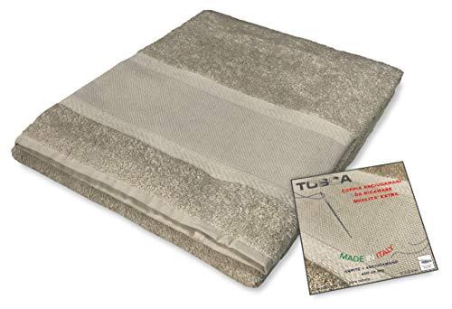 Tex family Frottee-Handtuch-Set Tosca © Aida-Stoff zum Sticken, Kreuzstich 1+1 für Gesicht und Gäste, Taupe