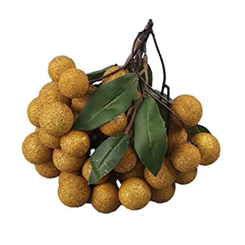 Obst Simulationsfruchtmodell Longan Longan Gemüsedekoration Requisiten Für Die Schaufensterdekoration Von Geschäften Und Supermärkten Gartenbau (Color : B, Size : 20)