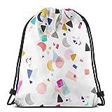 Yuanmeiju Men Women Bolsa de Gimnasio,Kids Benched Bag,School Mochila con cordón,Sport Casual Daypack,Craftsman Code 3D Print String Bag Sackpack Cinch Tote Bags