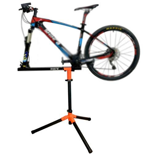 Fahrrad-Montageständer, Robust Fahrradständer Mountainbikes Steht Professionelle Teleskop-Fahrrad-Einfassungs-Standplatz 360 ° Drehbar Load Bearing 60Kg