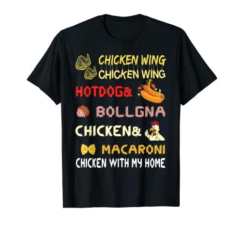 チキンウィング チキンウィング ホットドッグとボローニャシャツ キッズ Tシャツ