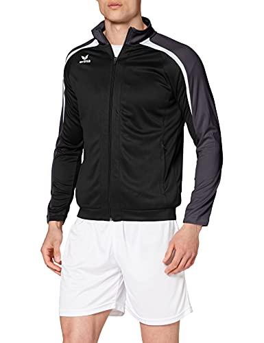 ERIMA Herren Jacke Liga 2.0 Trainingsjacke, schwarz/weiß/dunkelgrau, L, 1031804