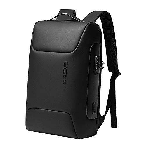 Generic Reise Laptop Rucksack Wasserdicht Anti-Diebstahl Tasche mit USB Lade Port und Schloss Business Computer Tasche für Männer, Bookbag Casual Wandern - Schwarz