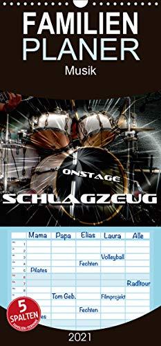 Schlagzeug onstage - Familienplaner hoch (Wandkalender 2021, 21 cm x 45 cm, hoch)