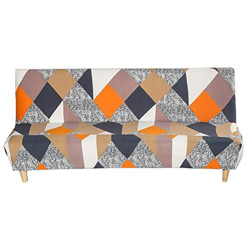 Carvapet Elastischer Sofabezug Armlos Sofaüberwurf Ohne Armlehne Antirutsch Clic Clac Sofahusse Couch überzug (Mehrfarbig)