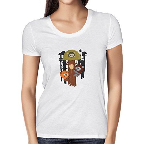 Texlab Damen Ewok Community T-Shirt, Weiß, L