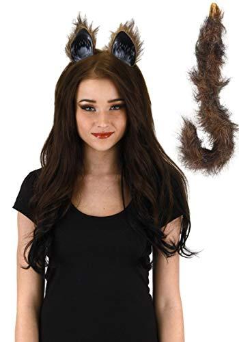 Cat Fox Wolf Animal Ears & Tail Costume Accessory Kit