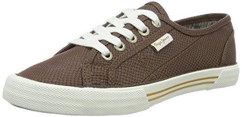 Pepe Jeans London Damen ABERLADY Python Sneakers, Braun (Capuccino 875), 39 EU