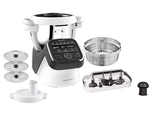 Krups HP50A8 Prep&Cook XL 1550 - Robot de cocina multifunción (acero inoxidable, 3 L), color blanco y negro