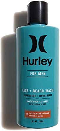 Hurley Men s Face and Beard Wash 2 in 1 Face Cleanser and Beard Conditioner Size 10 oz Sandalwood product image