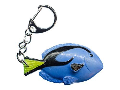 Miniblings Doktorfisch Schlüsselanhänger Ozean Meerestier Fisch blau - Handmade Modeschmuck I I Anhänger Schlüsselring Schlüsselband Keyring