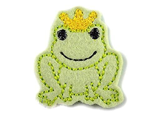 Frosch König Haarspange für Kleinkinder - freie Farbwahl