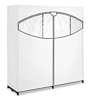 """Whitmor Extra-Wide Clothes Closet 60"""" with White Cover"""