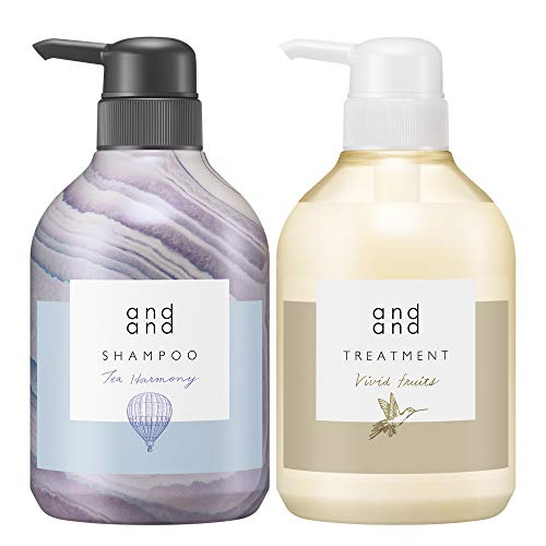 【セット買い】andandティーハーモニーの香りシャンプー&ヴィヴィッドフルーツの香りトリートメント[ノンシリコン処方]