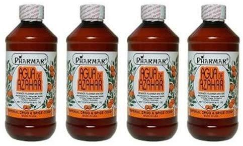 Agua De Azahar 8 Oz. Orange Flower-Blossom Water 4-Pack (8 oz. Each) by Pharmark