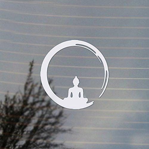 Cosplay & Fan Gear Buddha Brushstroke Vinyl Decal (White)