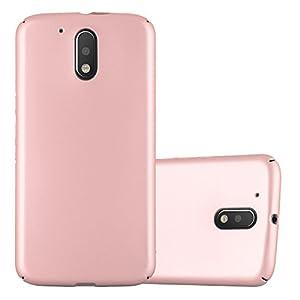 Cadorabo Funda para Motorola Moto G4 / Moto G4 Plus en Metal Oro Rosa - Cubierta Protección de Plástico Duro Super Delgada e Inflexible con Antichoque - Case Cover Carcasa Protectora Ligera