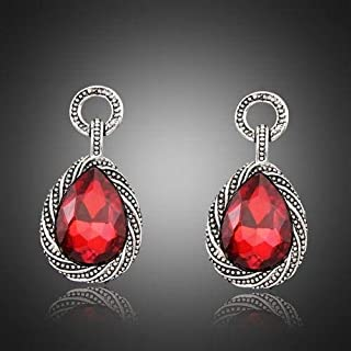 1 Pair Lady New Hot Design Glass Alloy Earrings Jewelry