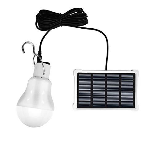 GreeSuit Bombilla LED de cobertizo con energía Solar, Sensor de luz portátil USB de Carga Linterna Interior para Actividades al Aire Libre Senderismo Tienda de campaña de Pesca iluminación