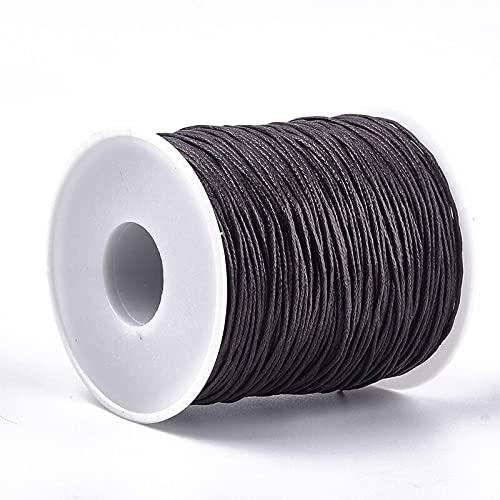 XKMY Cordón de 1 rollo de 100 yardas de cordón encerado de algodón, hilo de algodón encerado de 1 mm (color: plata)