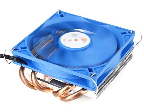GOLDEN FIELD Disipador de calor y ventilador de 36 mm de bajo perfil CPU enfriador de aire radiador ultra delgado para enchufes AMD e Intel