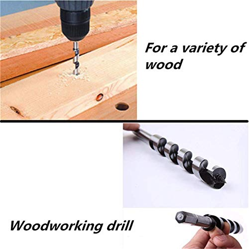 ZHTY 460mm 1pc Hex Shank Brad Point Drill SDS Auger Drill Bit Spiral Wood Drilling Tool,20mm