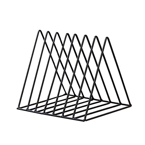 JINQIANSHANGMAO Organizador Rack Triangle Libro Magzine Holder Skin Record Storage Document Organizer Desk Organizer Officer Accesorios (Color : Black XS Size)