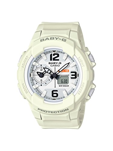 Casio Women's Baby G BGA230-7B2 White Resin Japanese Quartz Diving Watch